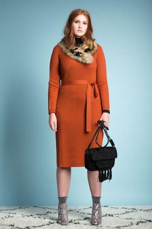 Studio Tie Waist Sweater Dress | 70s Punch Collection | Women's Plus Size Fashion | ELOQUII