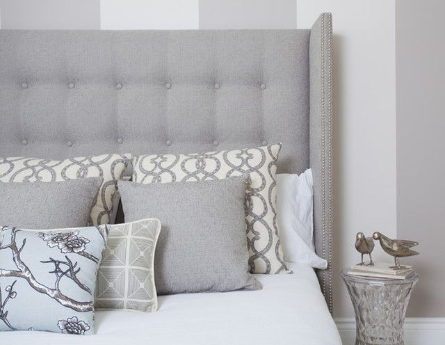 Wing Back Bed & Neutral Dressing