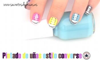 Pintado de u as estilo converse nails pinterest for Decoracion de unas converse