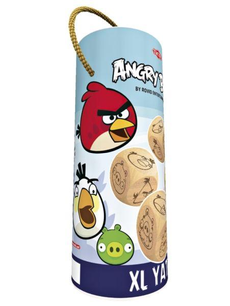 Angry Birds XL Yatzy. Heitä viittä puista noppaa ja katso, saatko parhaat pisteet! Yatzy on noppapelien klassikko, ja yhdessä Angry Birdsin kanssa se on voittamaton! Ulkokäyttöönkin sopivan pelin puiset nopat on tehty suomalaisesta puusta.