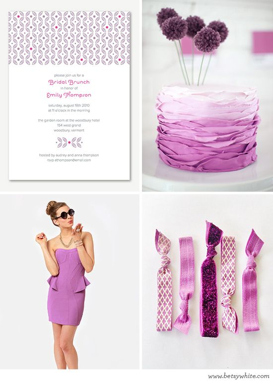 A Radiant Orchid Bridal Brunch // Flights of Fancy // (click for image sources): Pantone Colors, Shades, 2014 Colors, Orchids 2014, Colors, Colors Palettes, Radiant Orchids, Orchids Bridal