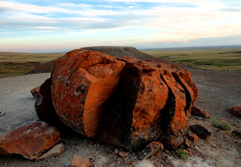 Red Rock Coulee at Sunset