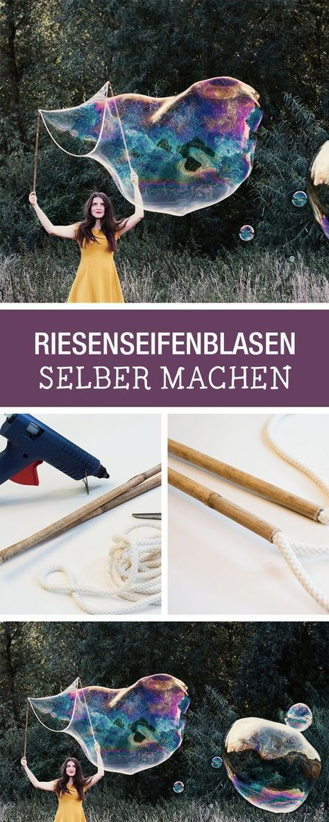 DIY-Anleitung: Riesige Seifenblasen selber machen, Seifenlauge für Kindergeburtstage / DIY tutorial: making huge soap bubbles, the highlight at every children's birthday party via DaWanda.com