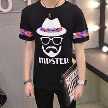 Inconformista hombres de la camisa japonesa de manga corta hombres camiseta camiseta del verano 2016 recién llegado de cuello redondo marea floja divertida del inconformista camiseta(China (Mainland))