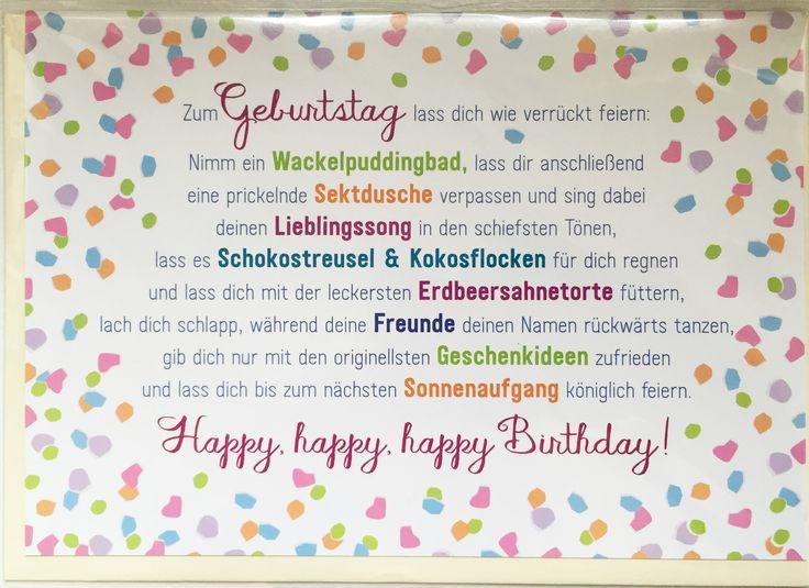 Zum Geburtstag lass dich wie verrückt feiern ... www.coco ...