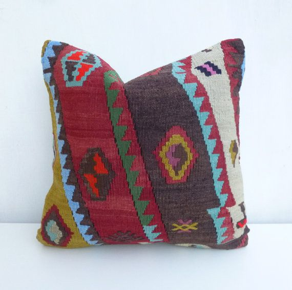 Ethnic Kilim Throw Pillow with original Design Products, Throw pillows and Design