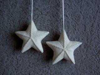 Stjärna by Karolina Eckerdal | knitted stars, christmas decoration, christmas knitting