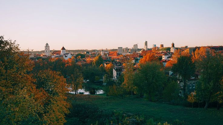 Discover Vilnius - Panoramic view of Vilnius from the viewpoint of Subacius.