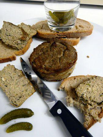 Terrine végétarienne (tofu, champignons, carottes)