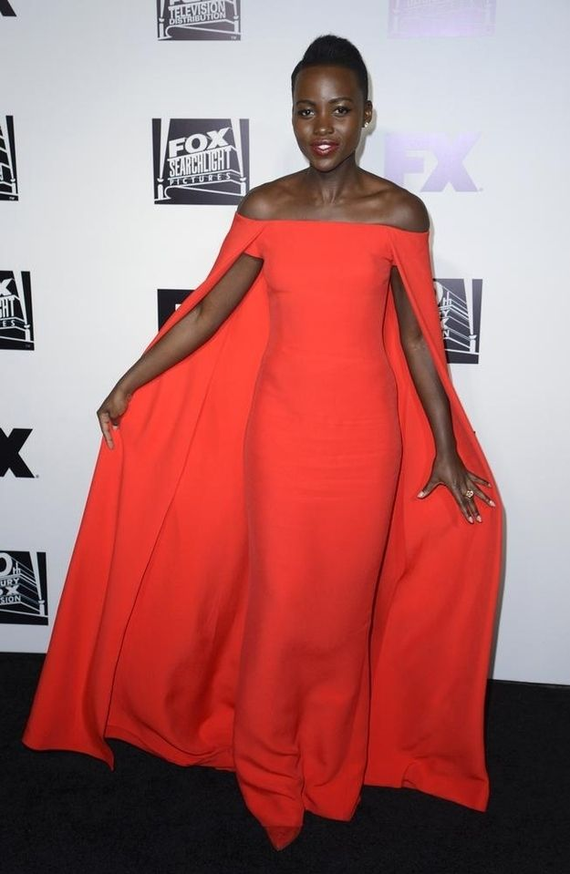 Oh, and who can forget this lil' Ralph Lauren column dress? | 22 Times Lupita Nyong'o Proved She's A Flawless Fashion Genius