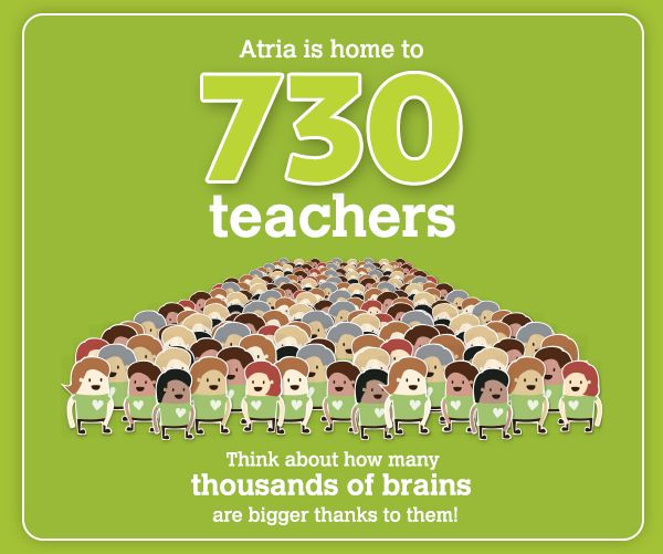 Today's Monday-Mention goes out to all of the outstanding teachers who call Atria their home!
