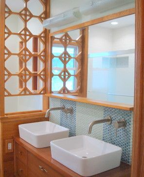 Mid Century Modern Bathroom Small | Bathroom Lighting and Vanity Lighting Bathroom Countertops Bathroom ...
