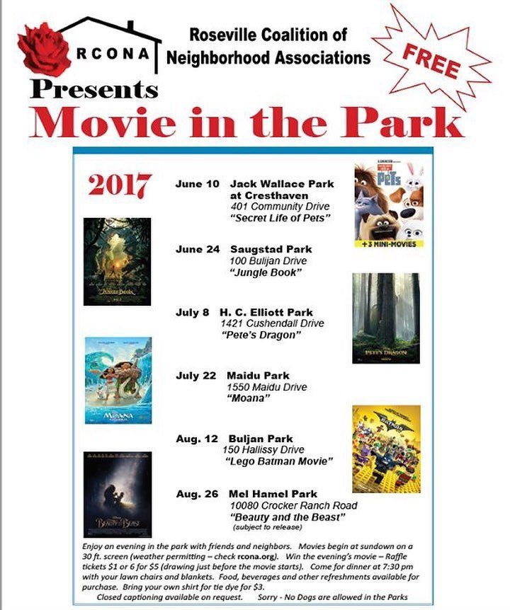 Movie in the Park 2017 starts this Saturday at Jack Wallace Park at Cresthaven. See RCONA.org for more details    via Instagram http://ift.tt/2rRUeUy  IFTTT Instagram