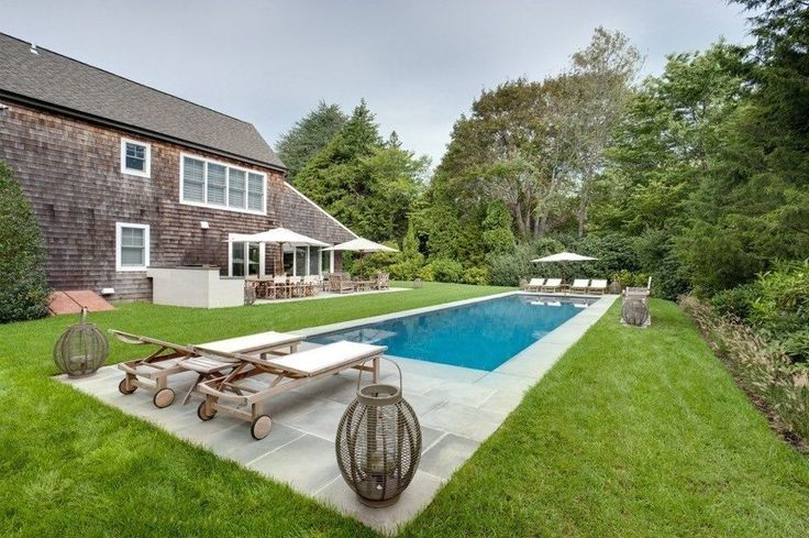 17 best ideas about rectangle pool on pinterest backyard for Pool design hamptons