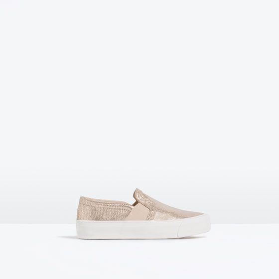 ZARA - COLLECTION SS16 - PLIMSOLLS WITH ELASTIC SIDE PANELS