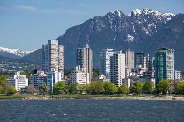 L'ouest de Vancouver et le mont Grouse.