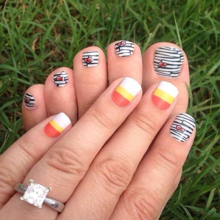 jamberry nail and candy corn halloween nails