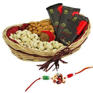 Rakhi Dryfruit Basket Rs 1799/- http://www.tajonline.com/rakhi-gifts/product/r3955/rakhi-dryfruit-basket/?aff=pint2014/