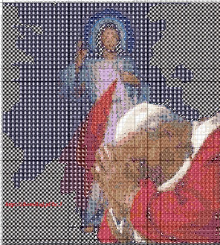 The Pope x-stitch