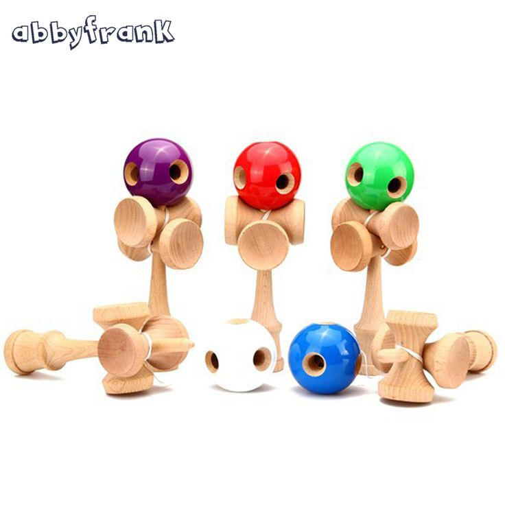 Abbyfrank 5 Holes 5 Cup Wooden Kendama Traditional Toy Ball Game PU Paint Beech Kendama Juggling Ball Gift For Children Adult #Affiliate
