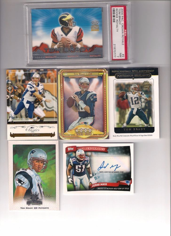 Tom Brady Rookie Card PSA 7 Rob Gronkowski Tom Brady Lot Buy It Now Bonus Auto #NewEnglandPatriots