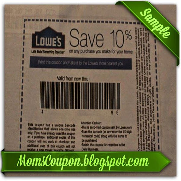 Lowes 10 off coupon code printable 2015