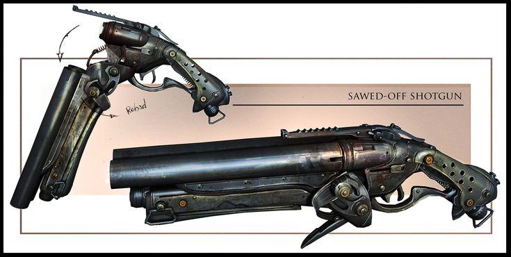 ArtStation - GOW3 Sawed off, James Hawkins