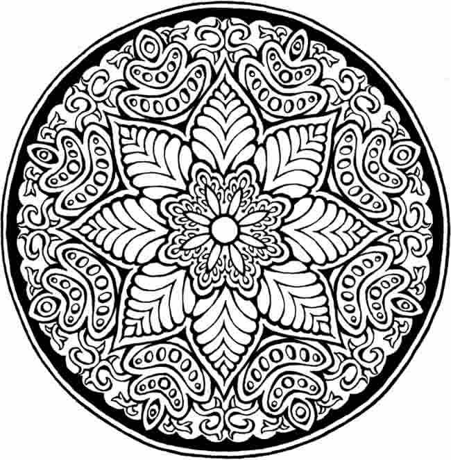 Difficult Mandala Coloring Pages Flower Mandala Difficult Mandala Coloring Pages