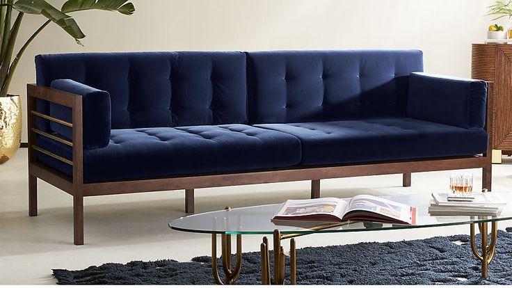 Best Hollywood Midnight Blue Velvet Sofa Blue Velvet Sofa 640 x 480