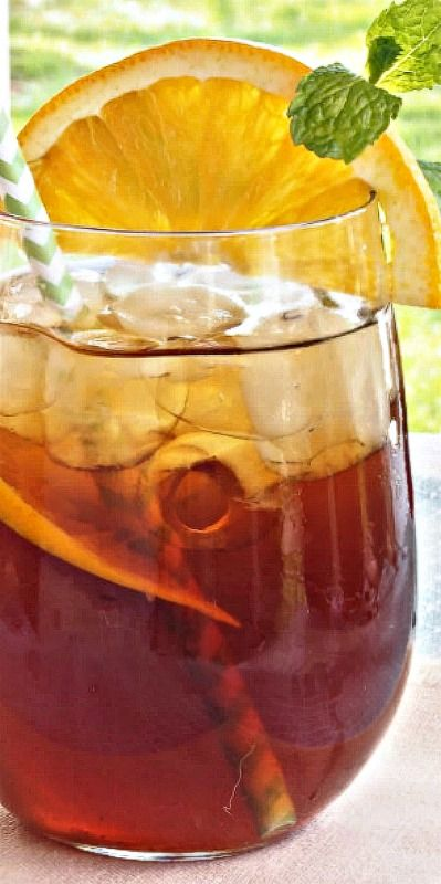 Orange Brown Sugar Sweet Tea