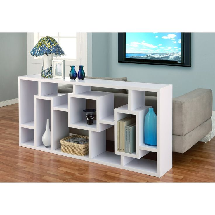 Furniture of America Unique Wood Bookcase/ Display Cabinet - White - Bookcases at Hayneedle
