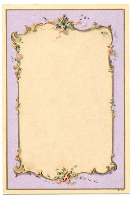 *The Graphics Fairy LLC*: Vintage Image - French Lilac Frame