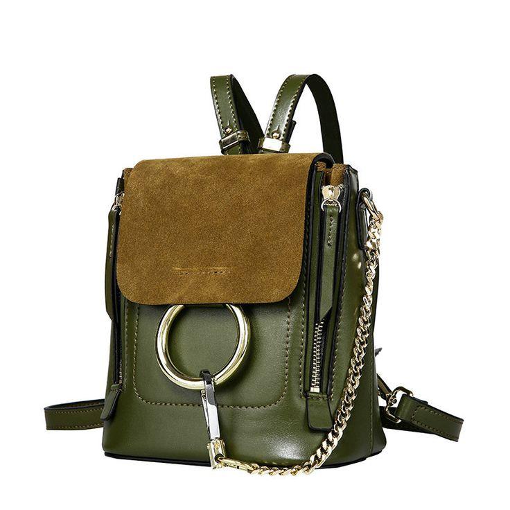 Bonitas mochilas mujer pequeñas mochila de piel nuevas
