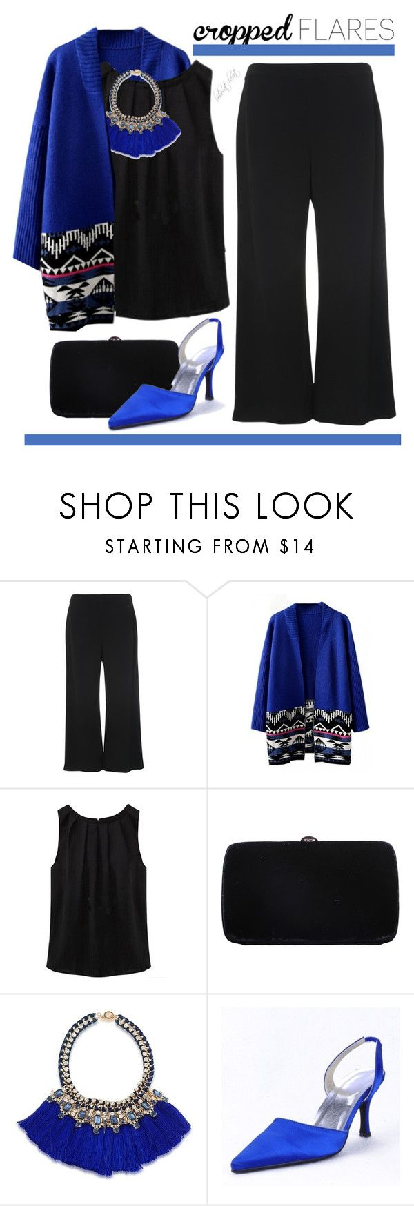 """""""Trend: Cropped Flares (BH 11)"""" by boho-at-heart ❤ liked on Polyvore featuring French Connection, WithChic, Sergio Rossi, Carolee and beautifulhalo"""
