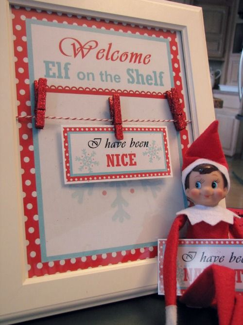 Elf on the Shelf Welcome Breakfast with Free Printables. This is so cute!