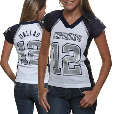 Headed out to watch the Dallas game? Spice up the typical jersey with this fashionable option.