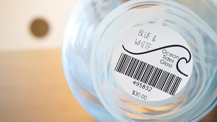 """💥PRICING & BARCODE LABELS  DuraReady's premium 2"""" round labels are the perfect barcode label for bottles, jars, and other round containers! Take control of your product inventory and create custom labels for your individual products.  www.duraready.com  #duraready #labels #diy #sticker #etsy #pinterest #monday #facebook #instagram #pricing #barcode #business #product #design #craft #handmade #event #party #candle #food #candy #cookies #cake #shipping #packaging"""