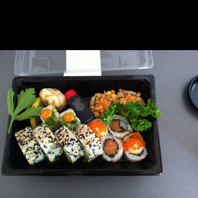 Great take away sushi from Karma Sushi in Denmak.