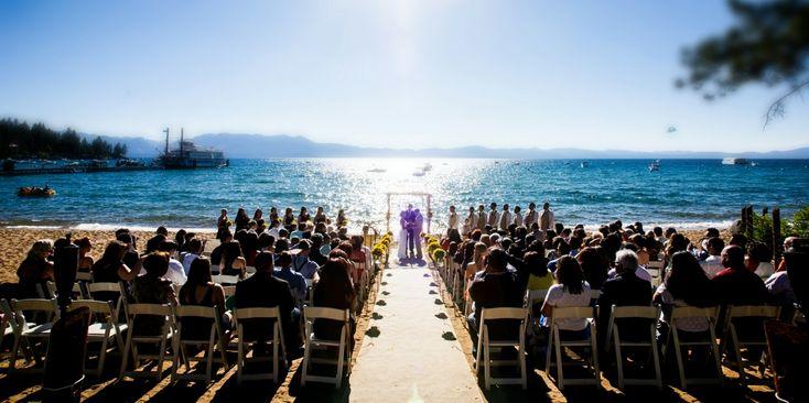 Wedding Party Overlooking Zephyr Cove Resort Weddings
