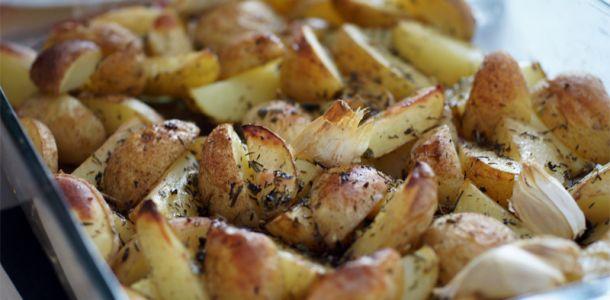 como preparar patatas asadas con hierbas