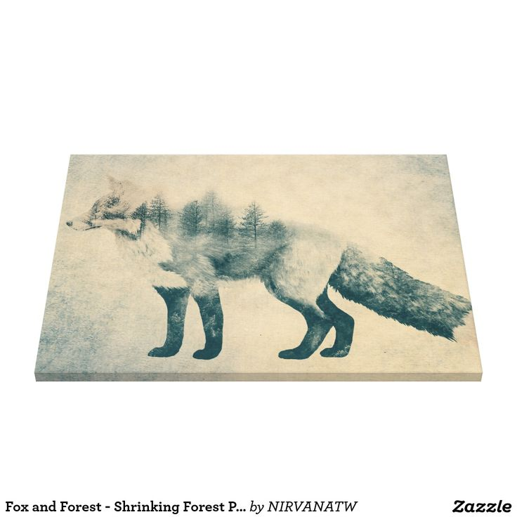 Fox and forest shrinking forest poster canvas print popular