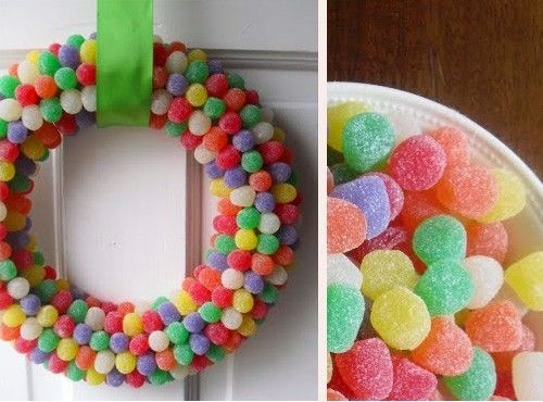 styrofoam ring covered with gumdrops.....