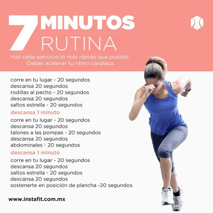 7 minutos rutina. Hiit. Workout. ¿Quieres más rutinas? Entra a www.instafit.com.mx