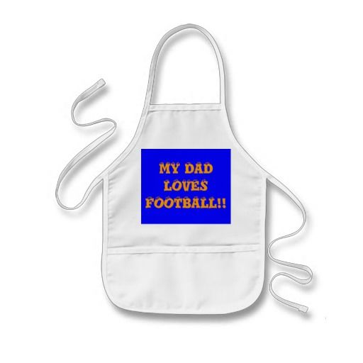 My Dad Loves Football!!> Childrens Apron