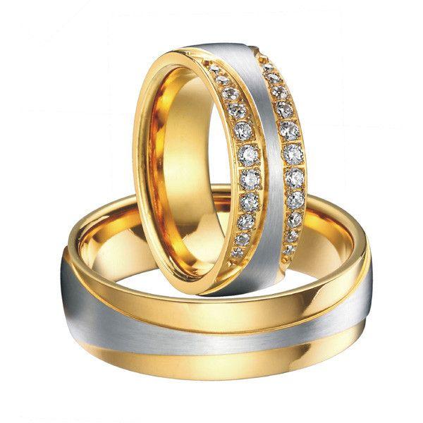 Aliexpress.com: Compre 1 Par de luxo vintage18k ouro chapeamento cz diamante novo projeto infinito conjuntos de alianças de casamento anéis de noivado para as mulheres e homens de confiança ajustes do anel de prata fornecedores em Wedding Rings Master