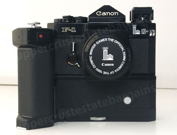 CANON F-1 CAMERA LAKE PLACID OLYMPICS 1980 MOTOR DRIVE MF LENS FD 50mm 1:1.8
