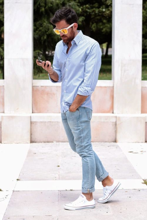 All men can get this Causal look by adding a pair of sunglasses & canvas — Mens Fashion Blog - The Unstitchd  Our Staff is trained to help you find exactly what you are looking for. Schedule your appointment today. 605-342-0258 www.eyes4infinity.com