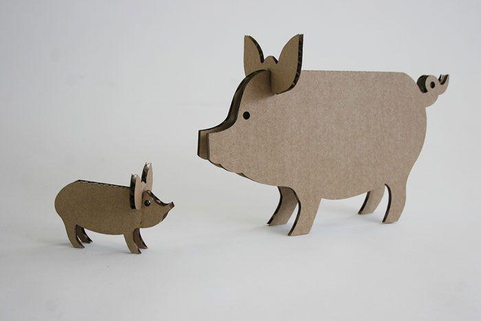 """""""Вырезаем, лазером из гофрокартона, животных и создаем ферму."""" (Amy de Wit)"""