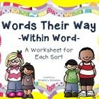 Are you looking for worksheets to enhance your Word Study instruction? This document includes worksheets that go along with EACH sort found in the ...