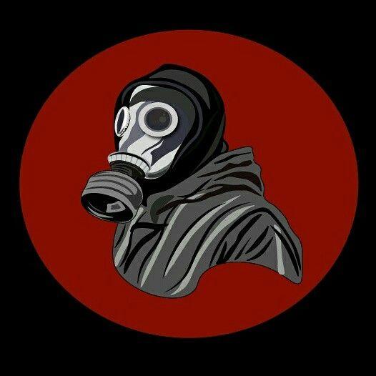 Mascara de gas, illustrator